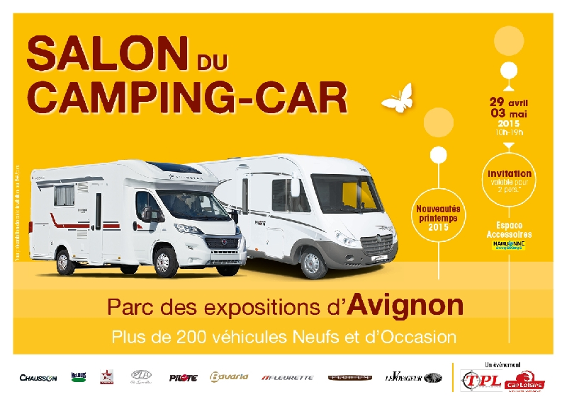 salon du camping car d 39 avignon 2015. Black Bedroom Furniture Sets. Home Design Ideas