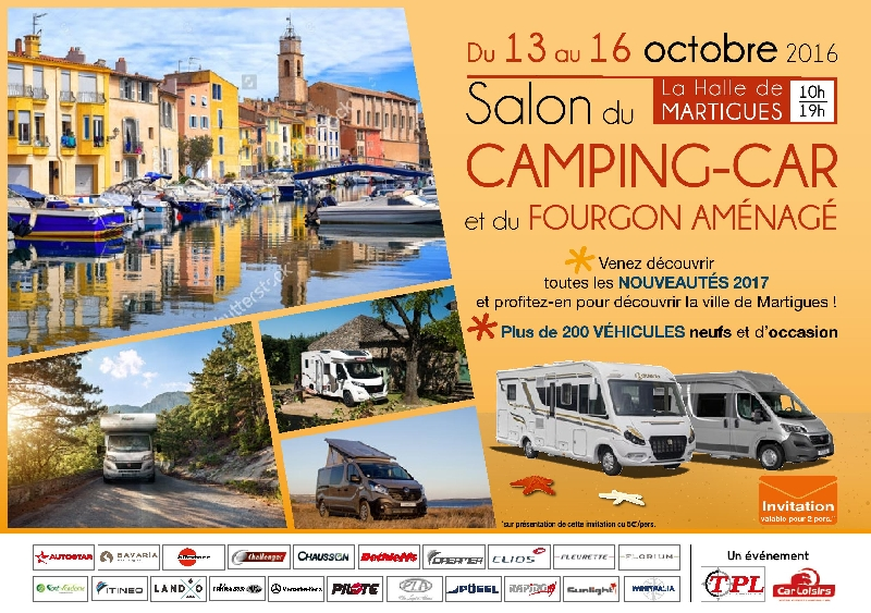 Salon du camping car de martigues du 13 au 16 octobre 2016 for Salon camping car paris